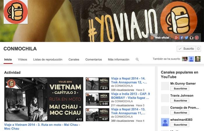El canal de youtube de Conmochila