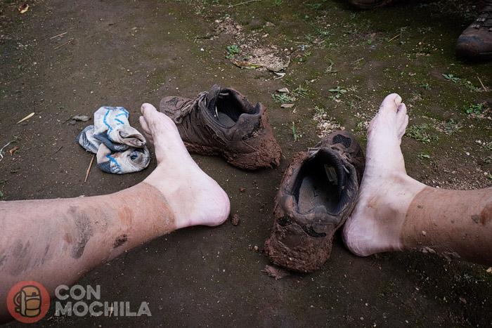 Y así es como quedan nuestros pies