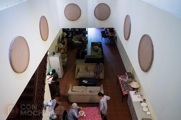 Vista del comedor/salón desde arriba