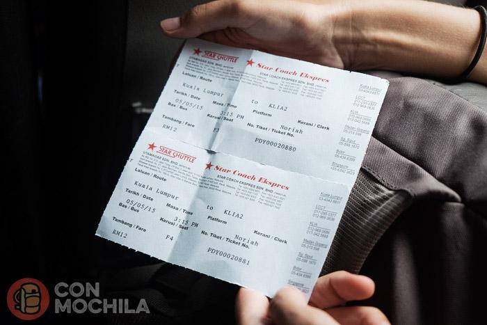 Los tickets del bus
