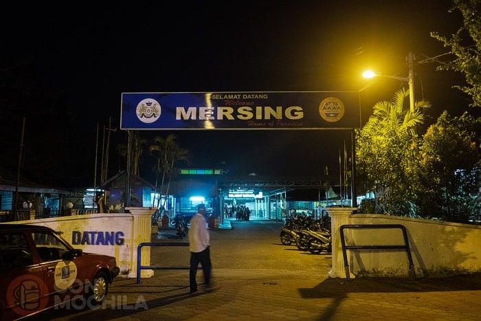 Cómo ir a Pulau Tioman. Entrada al puerto de Mersing
