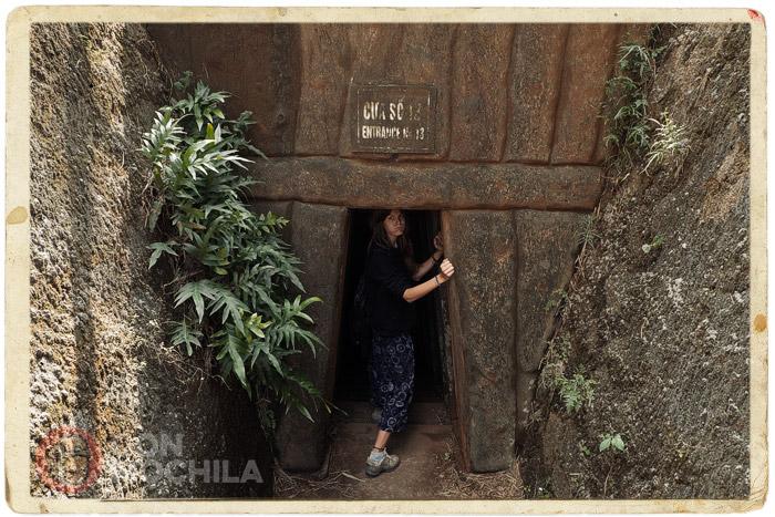 Una de las entradas a los túneles