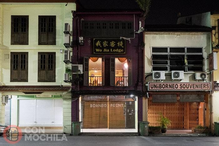 La fachada de Wo Jia Lodge