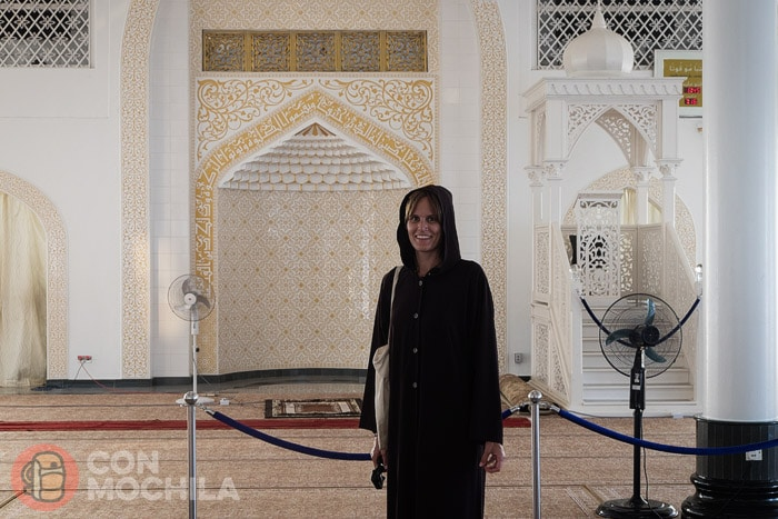 En el interior de la mezquita