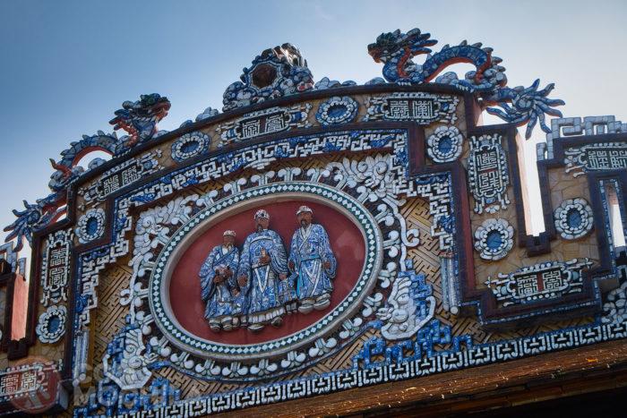 Un detalle de la ornamentación