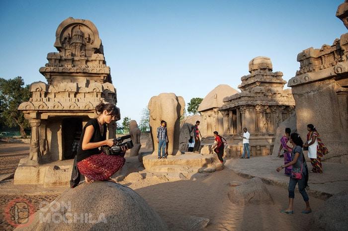 Cinco Rathas en Mamallapuram o Mahabalipuram