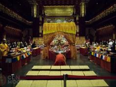 Buddha Tooth Relic Temple de Singapur, con una reliquia de Buda
