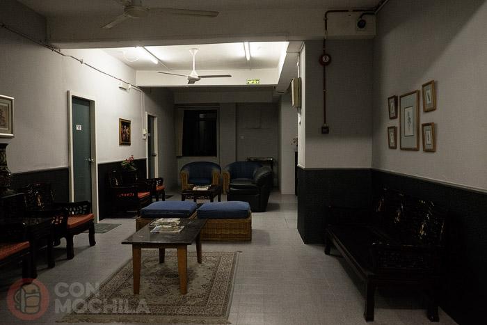 La sala de estar del hotel