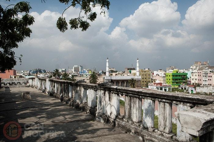 Vistas de Chennai desde la terraza superior