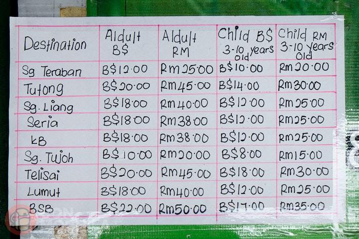 Precios de los billetes de bus