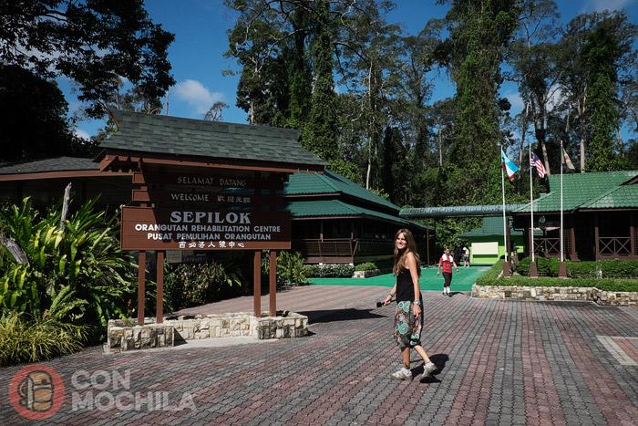 Entrada al centro de Sepilok
