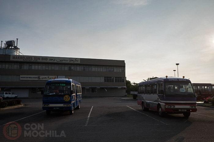 Zona donde cambiamos de bus