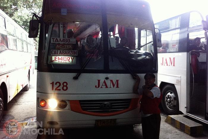 El autobús que hay que coger