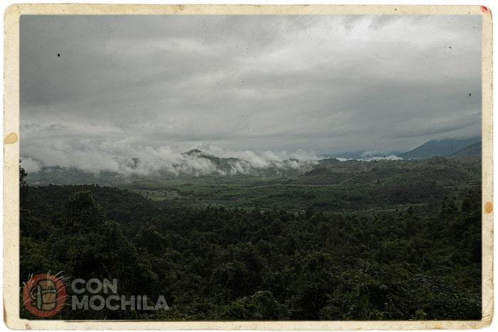 El paisaje amenazando más lluvia