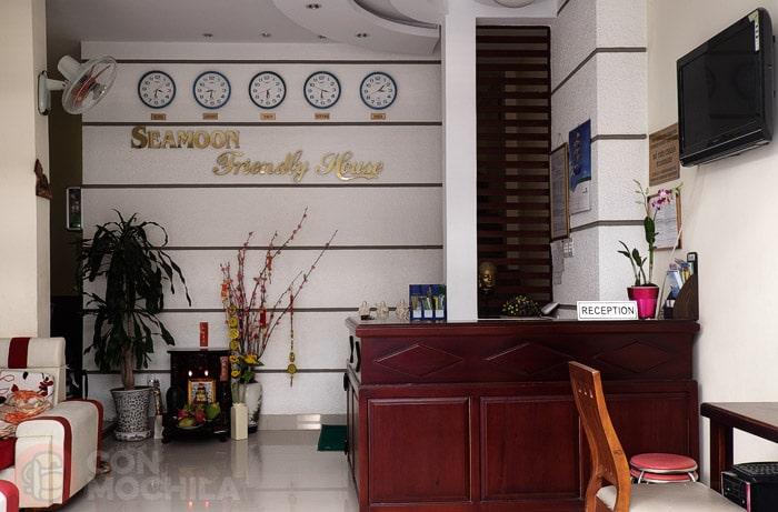 Recepción de Seamoon guesthouse