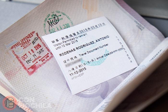 Visado de Hong Kong: Permiso para entrar en Hong Kong