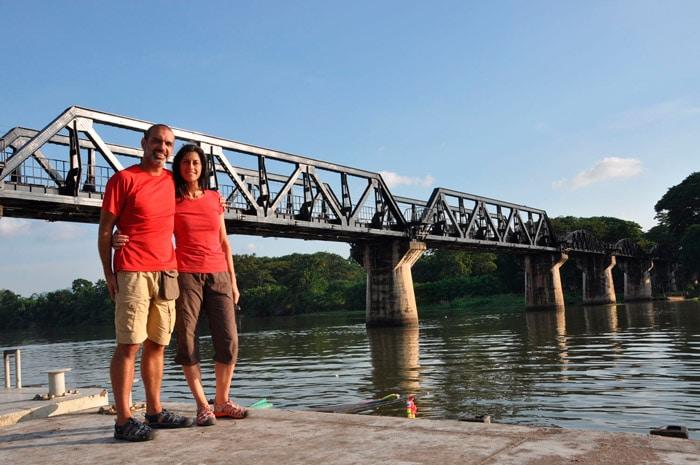 Itinerario de viaje a Tailandia: Puente sobre el río Kwae
