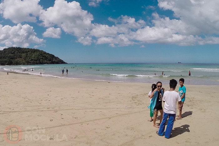 La playa de Nagtabon de Puerto Princesa