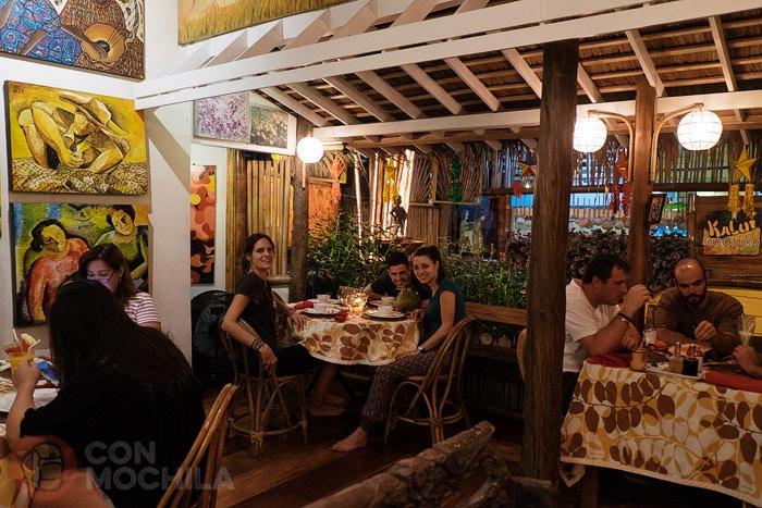 En el restaurante Kalui