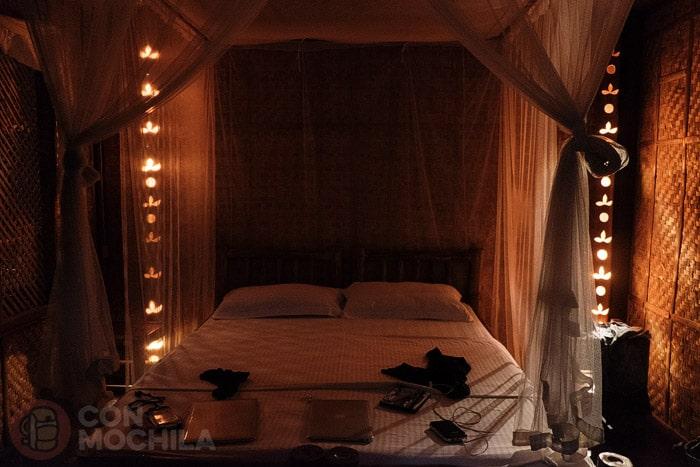 La habitación de noche