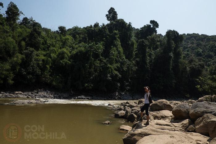 Llegada al río