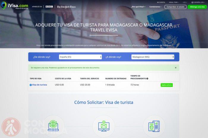 Visado Madagascar online con iVisa