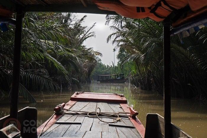 Típica imagen en el Delta del Mekong