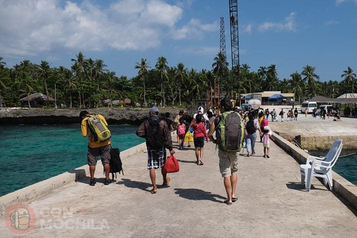 Llegada al puerto de Consuelo