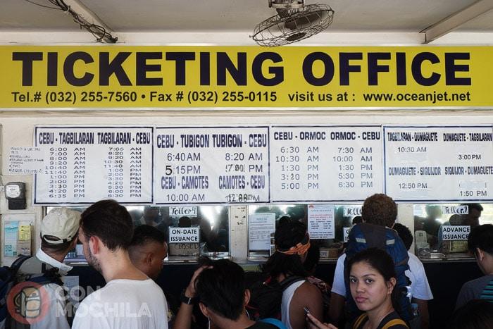 Oficinas para la compra de tickets de OceanJet