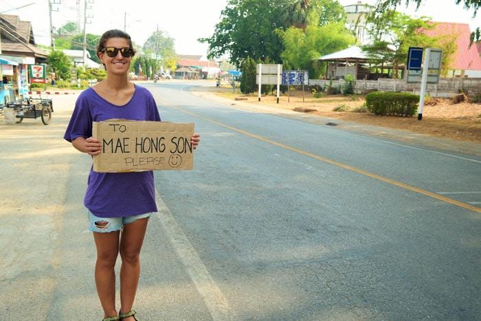 Itinerario de viaje por el Norte de Tailandia: Moverse a dedo por Tailandia es la mejor de las maneras
