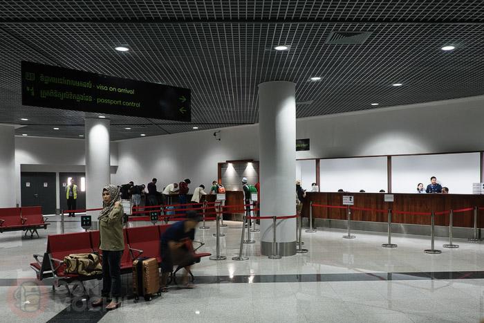 """Zona del aeropuerto donde se realizar los visados """"on arrival"""""""