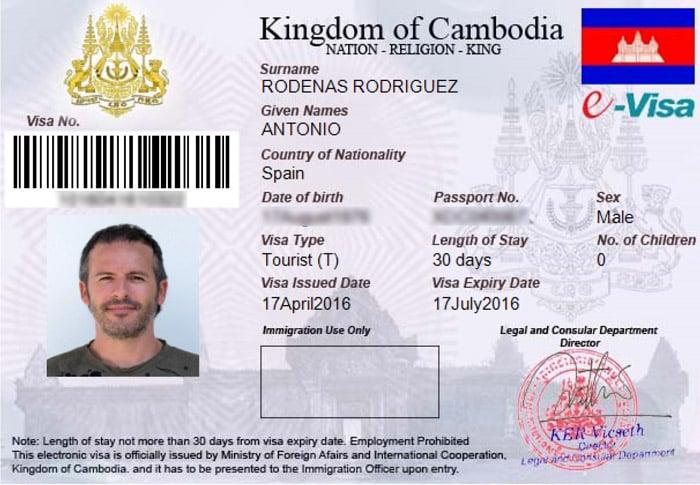 eVisa de Camboya