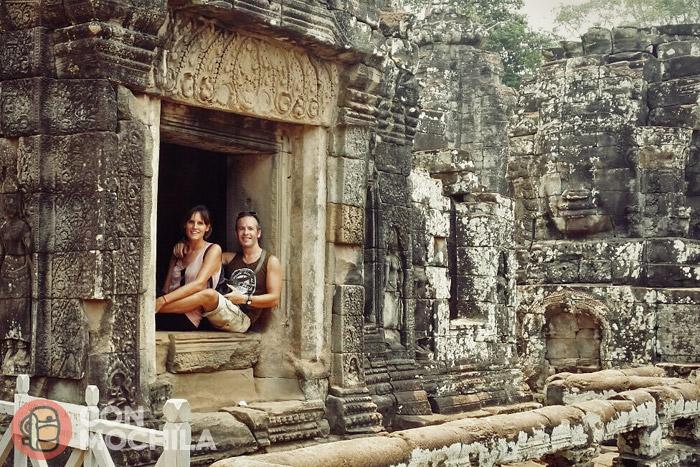 Itinerario de viaje a Camboya: ¡Una foto juntos en conmochila! We like Cambodia