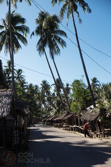 La carretera que llega a la playa