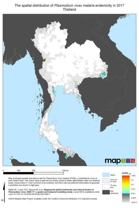 Plasmodium Vivax en Tailandia