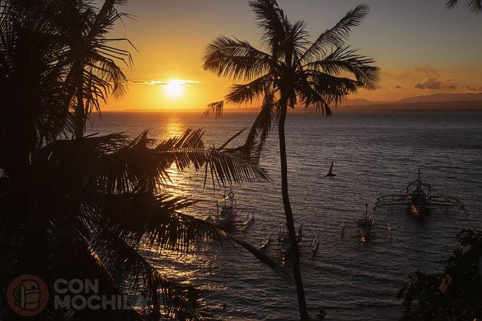 Puesta de sol desde el resort