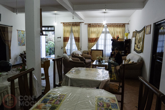 El amplio salón