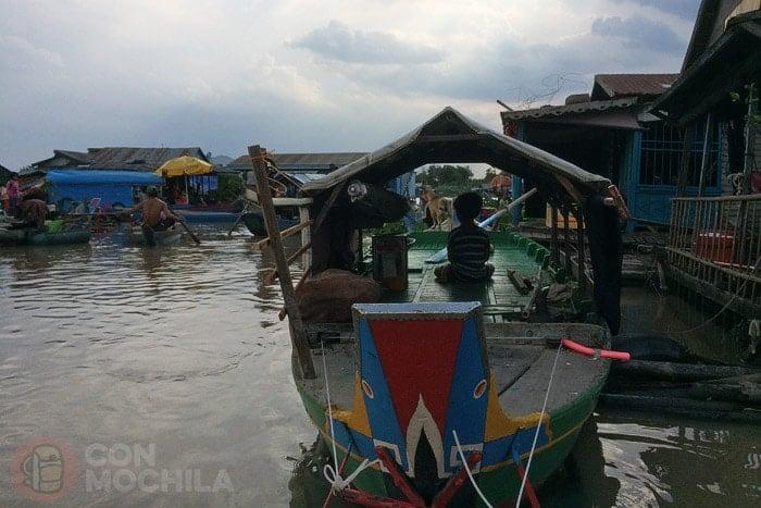 Pueblos flotantes del Tonle Sap, en Kampong Chhnang