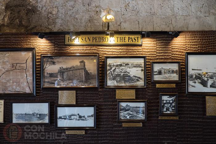 Exposición en el interior del fuerte