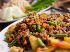 Blue diamond, restaurante apto para vegetarianos en Chiang Mai