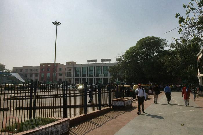 La estación de tren de New Delhi (Paharganj está justo detrás)