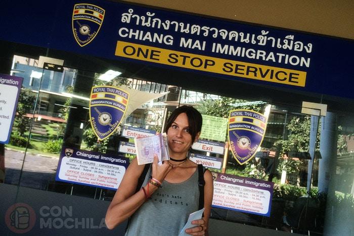 Extensión del visado de Tailandia en Chiang Mai conseguido
