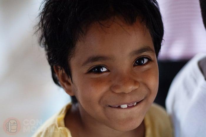 Una simpatíca niña en Tsiroanomandidy
