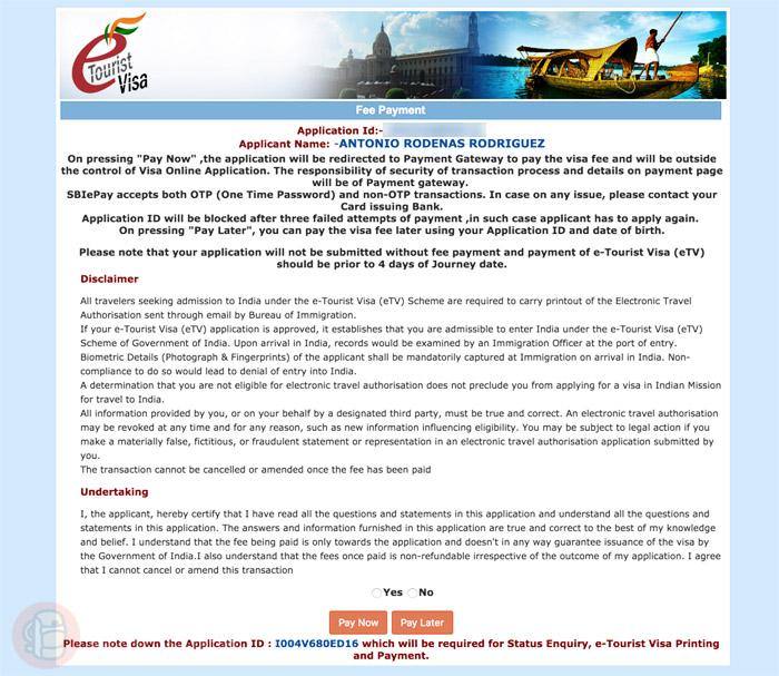 Página de confirmación y de pago