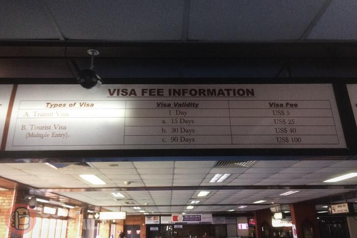 Información sobre precios de las tasas del visado de Nepal