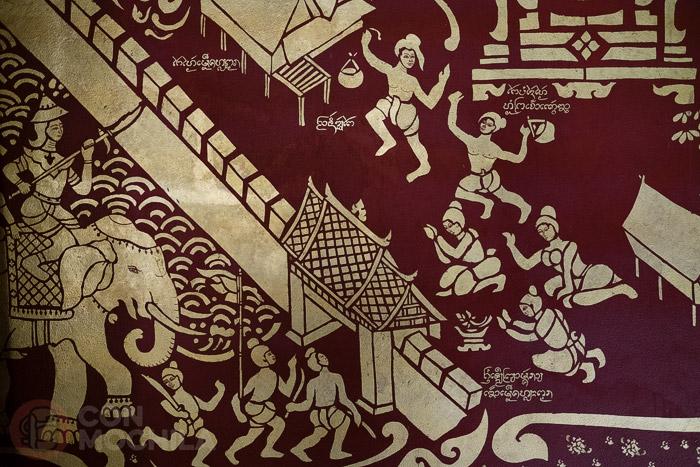 Detalle de una de las paredes