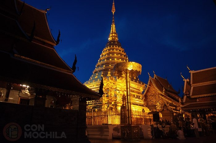 Estupa del Wat Phra That Doi Suthep