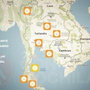 El tiempo en Tailandia en MAYO