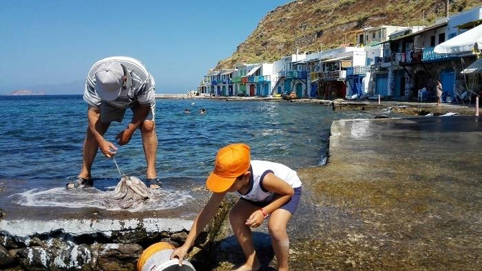 Itinerario de viaje a Grecia: Pueblo pesquero (Milos)