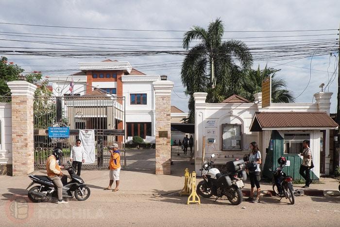 El consulado de Tailandia en Vientiane